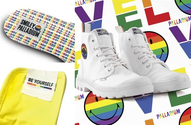 激美長腿靴聯名微笑潮牌推紀念系列 有愛傳遞多元正能量(圖/品牌提供)