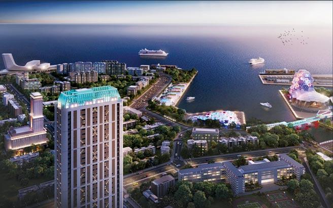 「聯上鉑金」坐落南高雄地王,擁抱山海河港景致,在南台灣富豪圈颳起換屋潮。圖/業者提供