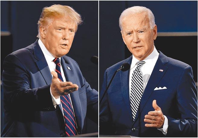 關鍵之戰!美國總統最後一場辯論會將在台北時間今日早晨9點舉行。川普(左)和拜登(右)預料將就疫情、電郵門醜聞以及對中政策展開激辯。(美聯社)