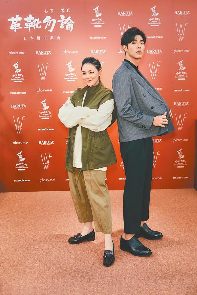 歐陽靖(左)和陳昊森昨出席記者會,分享各自近況。(plain-me提供)