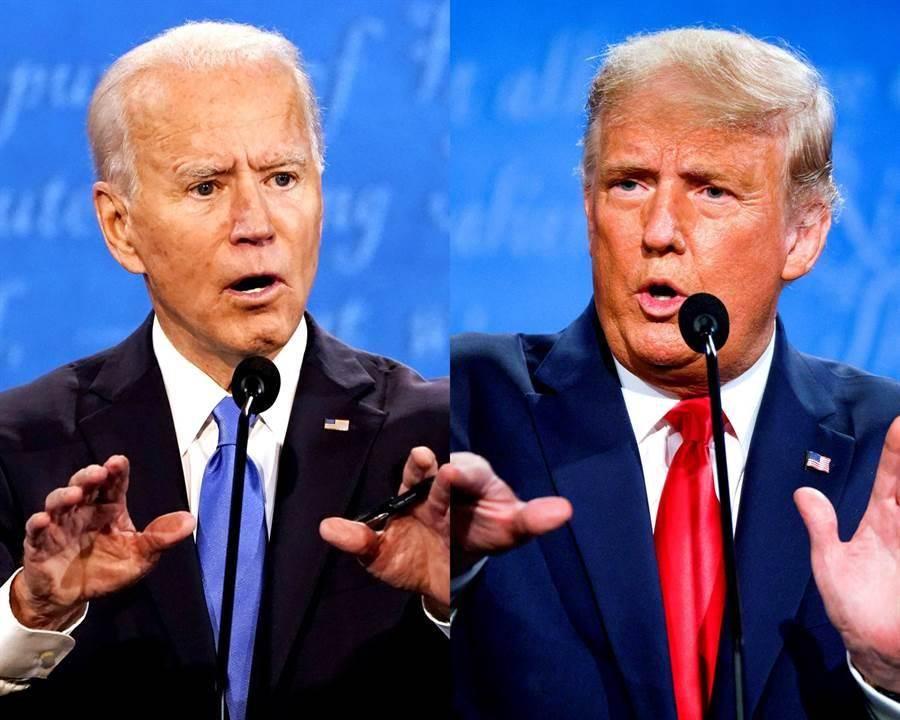 美總統川普與民主黨拜登於22日進行大選終場辯論,名嘴黃創夏直言,川普少問了一句。(圖/美聯社、路透社)