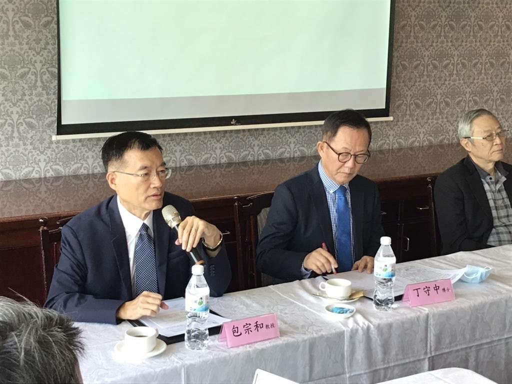 兩岸發展研究基金會今舉行「一國兩府」化解兩岸僵局記者會。(林勁傑攝)