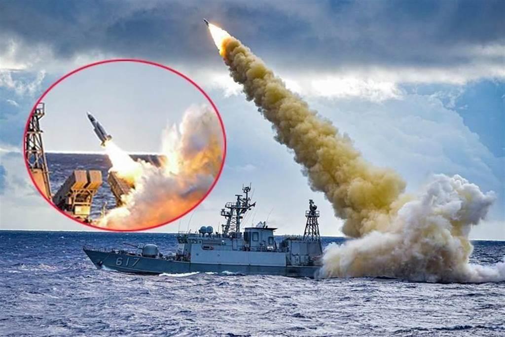 海軍發射飛彈。(圖/本報資料照)
