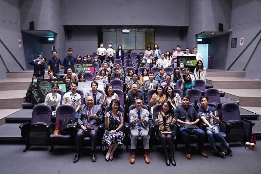 桃園市政府青年事務局攜手國立台北商業大學、LINE Protostar新星計畫,合辦LINE Chatbot對話機器人設計大賽,24日舉行決賽。(黃婉婷攝)