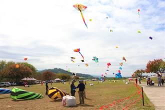 苗栗風箏節安全升級 隔出放飛區風箏先升空