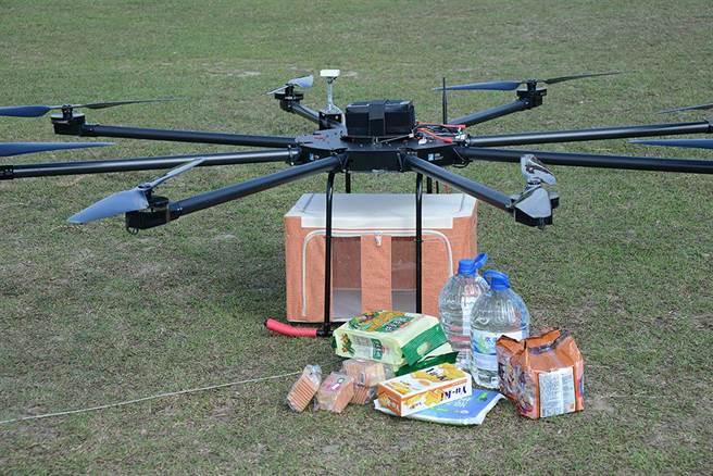 工研院開發的高負載高續航無人機,適用於農藥噴灑、消防救災,以及協助空中載運農產品,提升農作物運輸效率與品質。(工研院提供/李侑珊台北傳真)