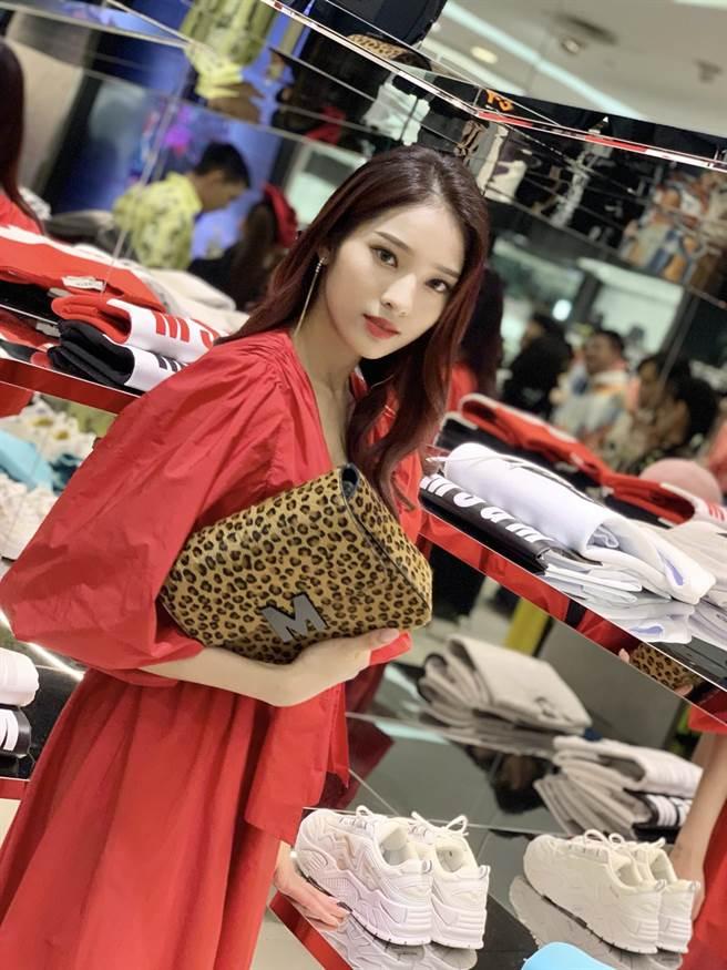 李家儀第一次參加時尚品牌活動。(MSGM/維恩原創提供)