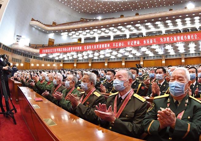 10月23日上午,紀念中國人民志願軍抗美援朝出國作戰70周年大會在北京人民大會堂隆重舉行。(新華社)