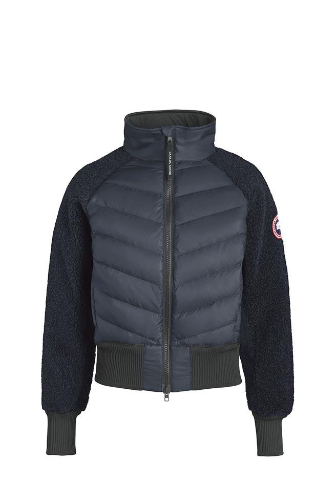 Canada Goose海軍藍刷毛羽絨外套,2萬500元。(Canada Goose提供)