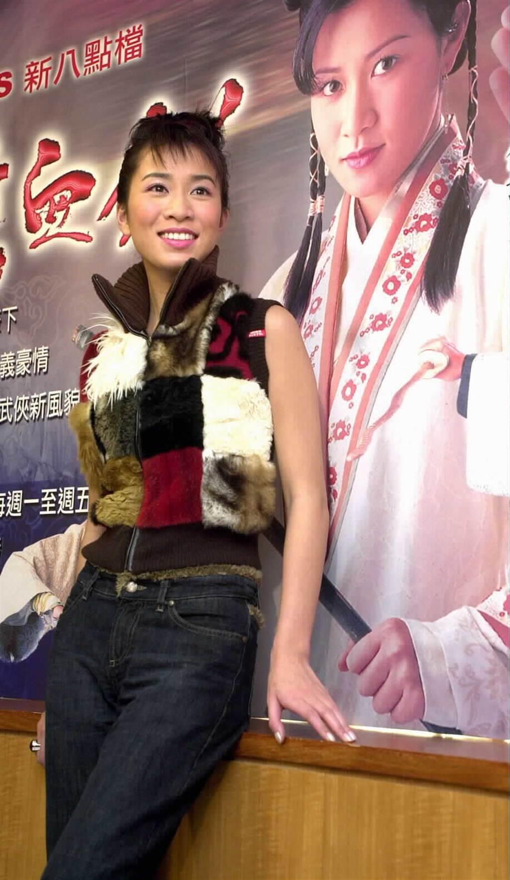 貴為戲劇一姐的佘詩曼,2001年來台宣傳新戲。(圖/本報系資料照片)