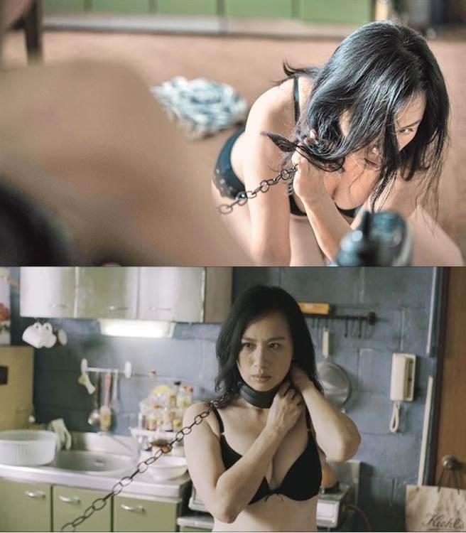 黃采儀在電影中有狂野的SM劇情。(圖/《情色小說》劇照)