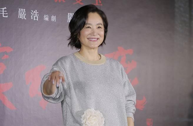林青霞去年出席電影《滾滾紅塵》數位修復版首映記者會。(周志長攝)