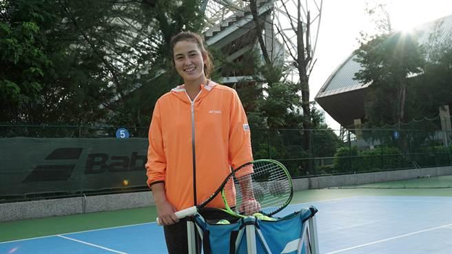 葛藍喬安娜在ITF沙姆沙伊赫網球賽,斬獲個人生涯首座職業賽單打冠軍。(資料照/海碩整合行銷提供)