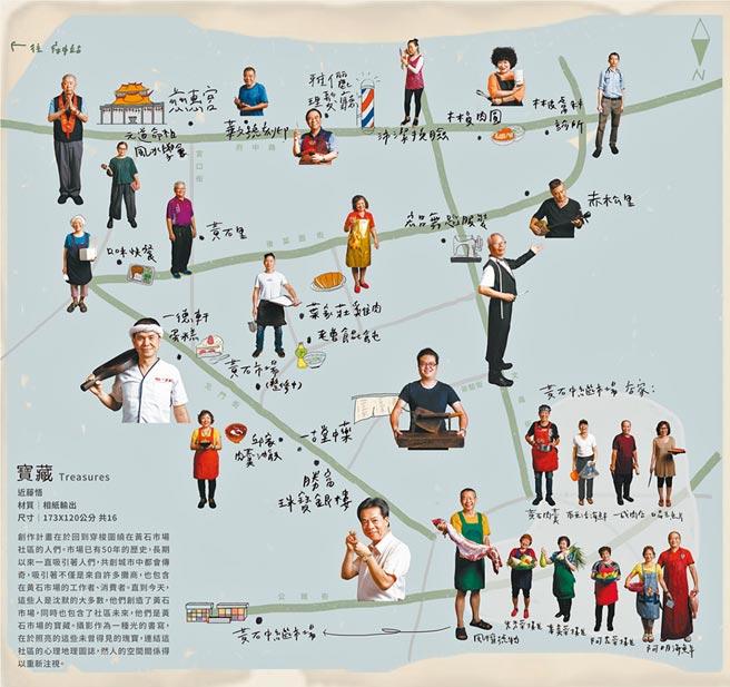 寶藏 Treasures-近藤悟攝影展職人地圖。(新北市政府文化局提供)