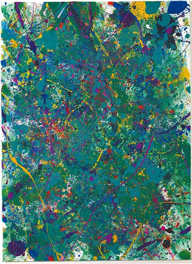 陳正雄,《綠野香頌系列九》,壓克力彩,100X73cm,1992年。圖/吳燈載