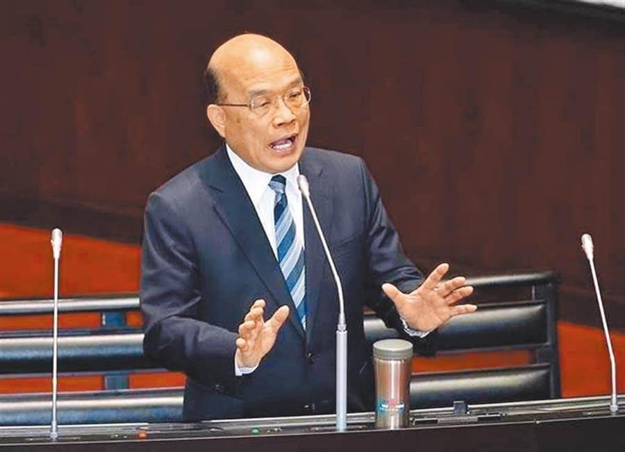 苏贞昌曾说「NCC什么都不管」,却逼走前主委詹婷怡。 图/本报系资料照片