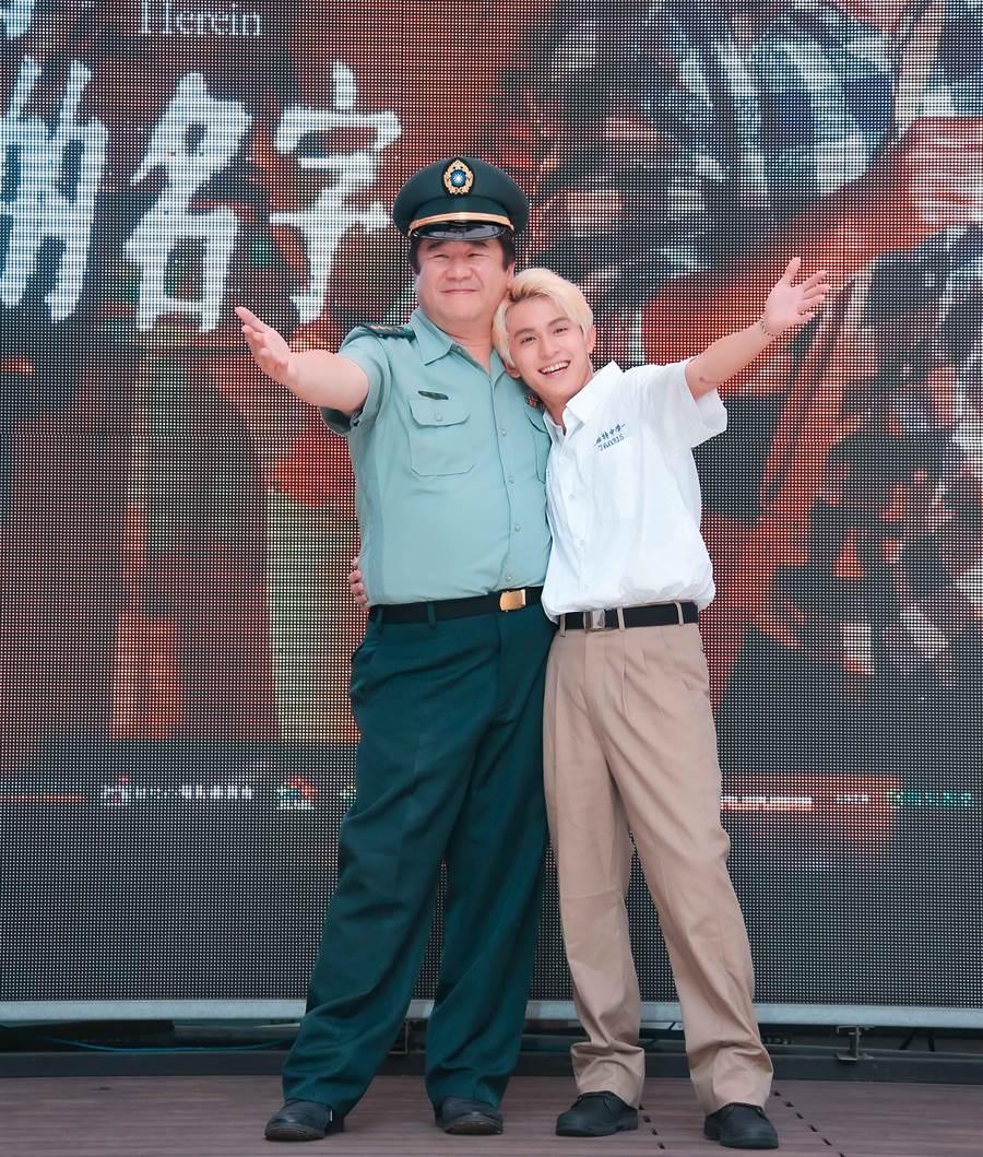 林晖闵与监製瞿友宁带来片中插曲〈这个世界〉。(罗永铭摄)
