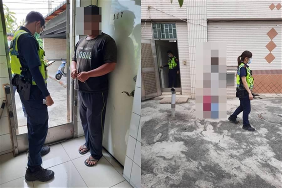台中15歲少女遭男網友載走失蹤四天後,今天在男方位於台南永康租屋處尋獲。員警發現南姓男子時,男子裝傻不斷在門外猛抽菸拖延,警方最後破門而入後才尋獲少女。(圖/戴志揚翻攝)