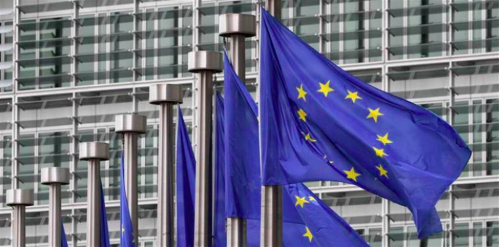圖為歐盟旗幟。(美聯社)