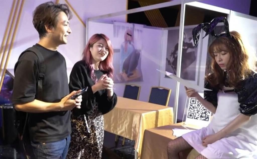 米砂在現場和男女主角講戲。(圖/翻攝自米砂YouTube)