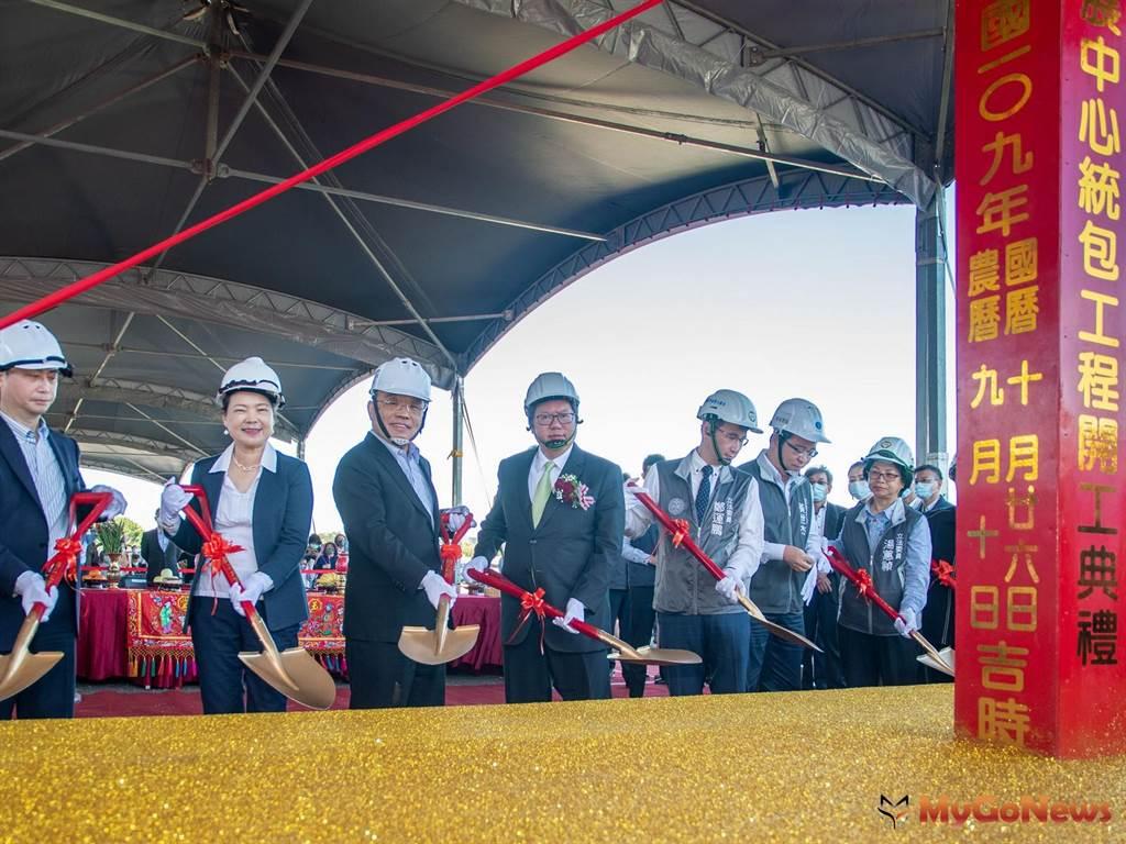 桃園會展中心預計2022年10月展覽館完工,2023年5月全棟啟用,打造桃園首座國際化會議中心指標建築(圖/桃園市政府)