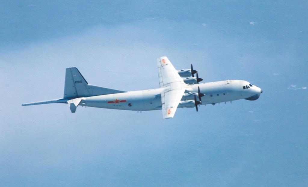 10月21日下午,大陸解放軍運-8反潛機進入台灣西南空域。(取自國防部即時軍事動態)
