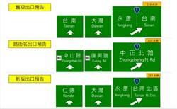 台南交流道出口標示改名被罵爆 高公局急修正