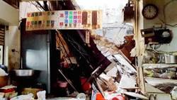 施工傳意外!嘉市東市場頂樓磚牆崩落壓傷素食店老闆