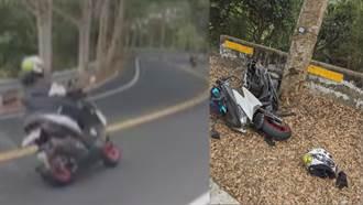 139線無照重機自撞斷兩截 18歲騎士壓車過彎人飛出