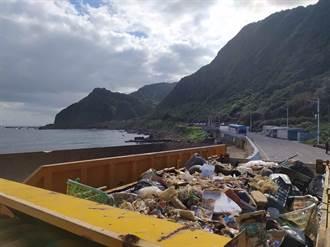 海洋垃圾回流 大武崙沙灘一周清約10噸海廢