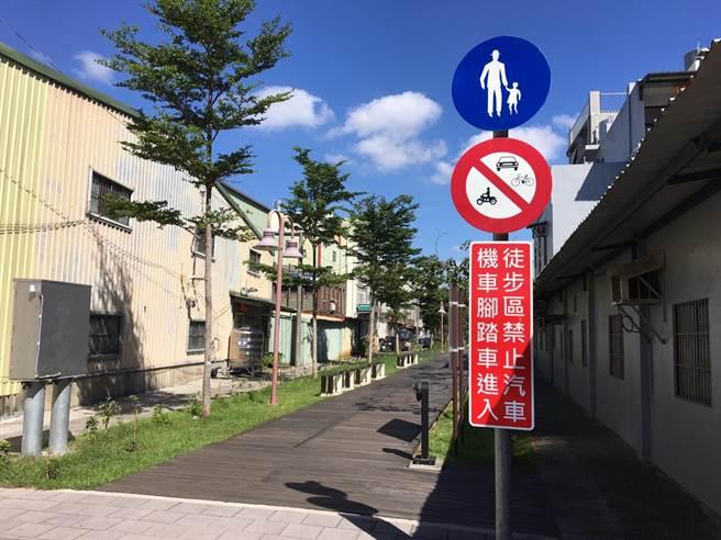 議員牛煦庭直言配套不足,導致桃林鐵路鐵馬道部分路段禁行腳踏車,非常諷刺。(牛煦庭提供/蔡依珍桃園傳真)