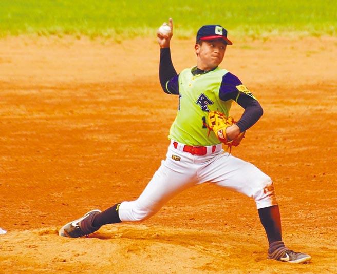 高雄前金國中棒球隊在耕元盃全國青少棒錦標賽奪得冠軍。圖為前金國中棒球隊長曾冠傑。(高市前金國中提供/洪浩軒高雄傳真)