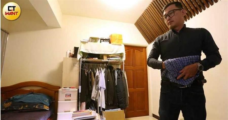 一周7天,小緒都住在勒戒村,雖然臥室陳設簡單,但對他來說以自身經歷帶領學員戒毒,這樣的生活充實而美好。(圖/趙世勳攝)