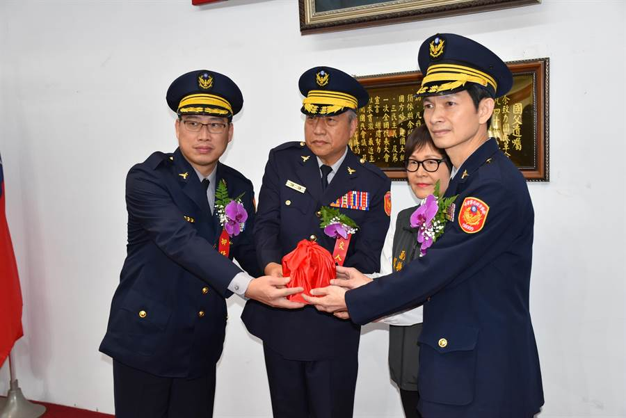 新任竹南分局長林永勝由宜蘭三星分局調任。(謝明俊攝)