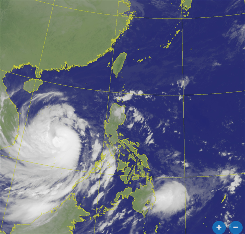 恐又有颱風!彭啟明:希望接近台灣 周四冷空氣到這天最冷。(衛星雲圖 氣象局)
