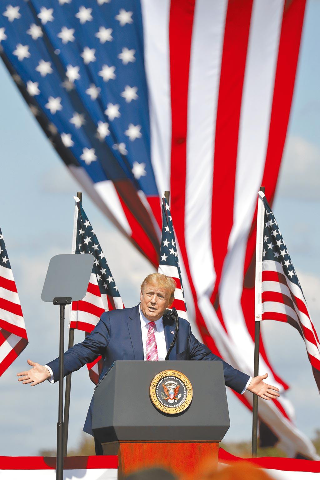 美國總統川普2016年當選以來,慣用「美國」與「優先」這兩個詞指導他的外交政策,4年下來,反全球化、單邊主義、對抗北京儼然成了川式外交的特色。(美聯社)