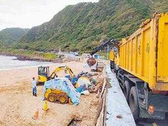 大武崙沙灘 一周清出10噸海廢