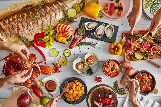 「板橋凱撒大飯店」朋派自助餐廳。(凱撒飯店連鎖提供)