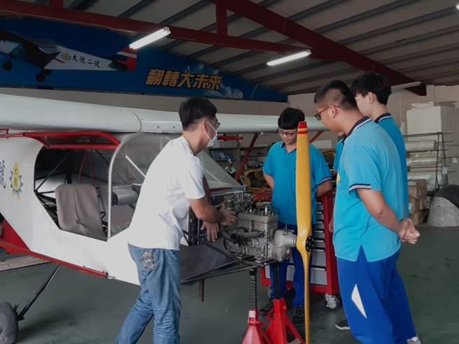 飛修科被譽為「飛機的醫生」,具有未來性的職業。(campus編輯室攝)