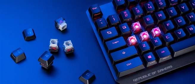 ROG Strix Scope RX光學機械電競鍵。(ROG提供/黃慧雯台北傳真)
