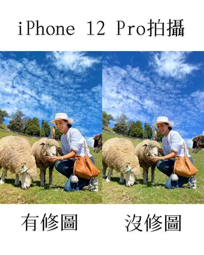 茉莉表示,用iPhone 12 Pro所拍出來的照片,在搭配這樣的天氣與陽光下,真的不太需要用手機修圖,「因為原圖真的就很厲害」。(摘自茉莉臉書)