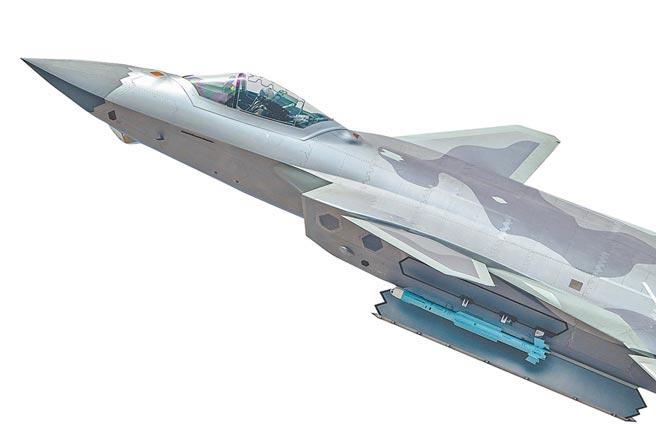 解放軍空軍殲-20掛載霹靂-15飛彈。(人民視覺)