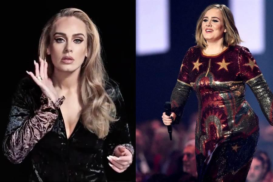 愛黛兒(Adele)近一年來積極瘦身,成功瘦掉「半個自己」 (圖/ 翻攝自網路)