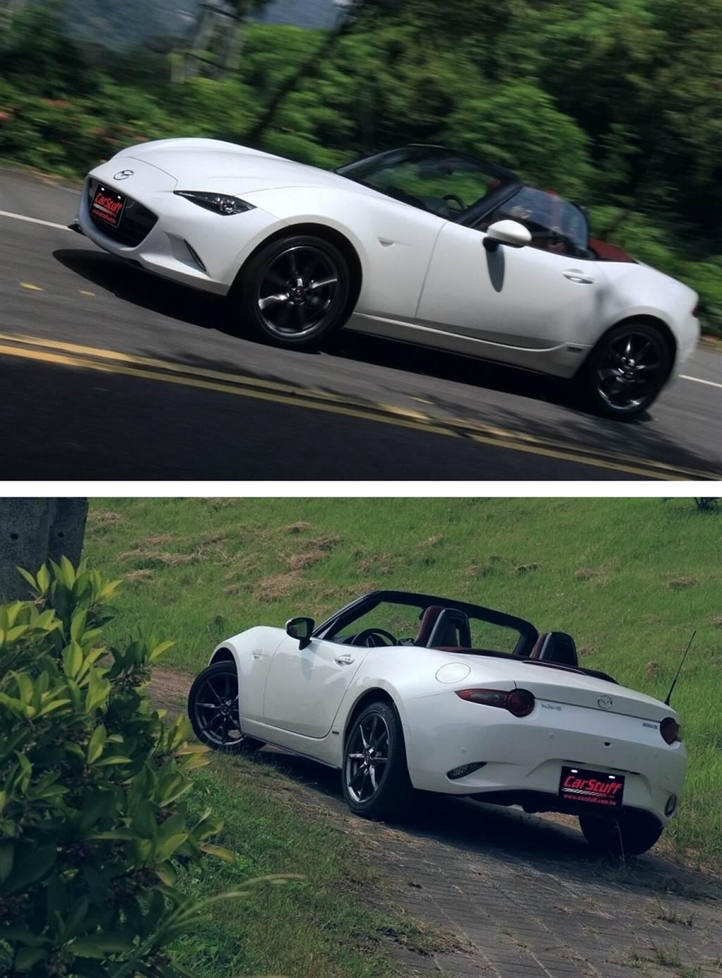 100週年紀念版MX-5的內外配色,是以Mazda第一款四輪市售車R360 Coupe當時最受歡迎的配色為概念,外觀以紅色和白色搭配表達「挑戰」的傳統,配置了專屬的酒紅色軟篷,同時在輪圈、葉子板上貼上「1920-2020」與「Mazda 百週年紀念廠徽」。至於內裝地毯、Nappa真皮座椅與細部配色上,則使用目前相當受到歡迎的勃根地紅(酒紅)搭配躍雪白車色,並且在座椅上打上100週年特別標誌來顯現不同之處。而每台紀念車的晶片鑰匙也採用了專屬「Mazda 百週年紀念廠徽」的設計。