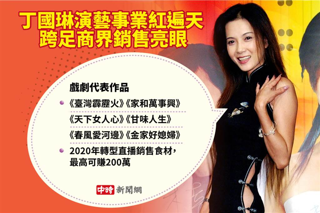 丁國琳演藝事業紅遍天 跨足商界銷售亮眼