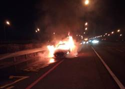 台南国道火烧车乘客形迹可疑 原来是非法移工