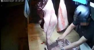 竊賊凌晨持刀偷肉露餡 假裝購買卻不付錢落跑