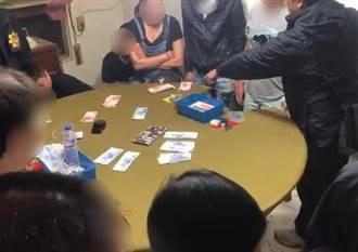 基隆警1週掃蕩2處職業大賭場 查扣數百萬賭資