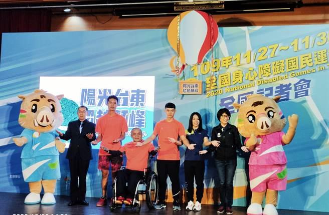 全國身心障礙運動會預定11月27日台東縣登場,舉重女神郭婞淳現身力挺。(黃邱倫攝)