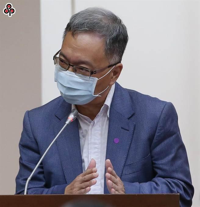衛福部政務次長薛瑞元。(趙雙傑攝)